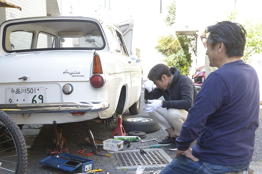 ヒストリックカーの整備