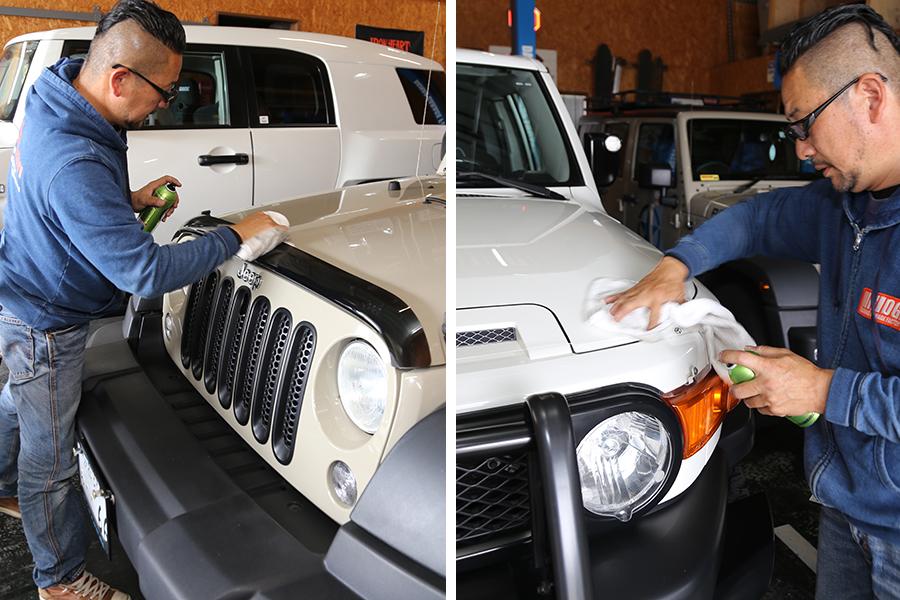 シュアラスター|ゼロフィニッシュ|ダイナオガレージファクトリー|ジープ|jeep|コーティング|マット塗装|洗車