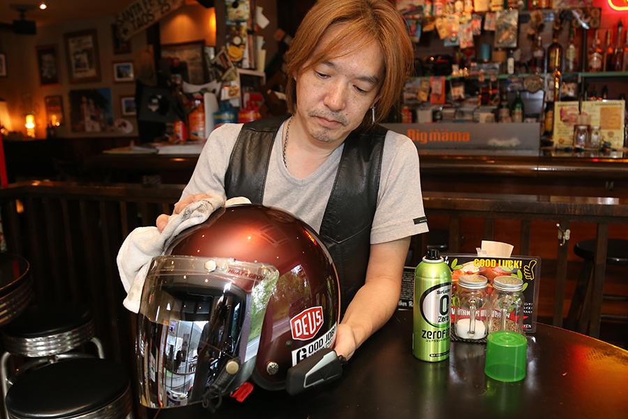 surluster|シュアラスター|ゼロフィニッシュ|ビッグママカフェ|横浜市|アメリカンダイナー|ヘルメット|コーティング|洗車