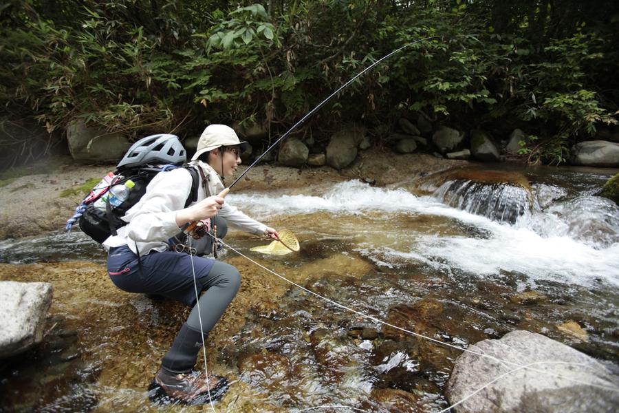 アウトドア|渓流釣り|マウンテンバイク|MTB|釣り|フライフィッシング|山ガール|釣りガール|道具|渓流