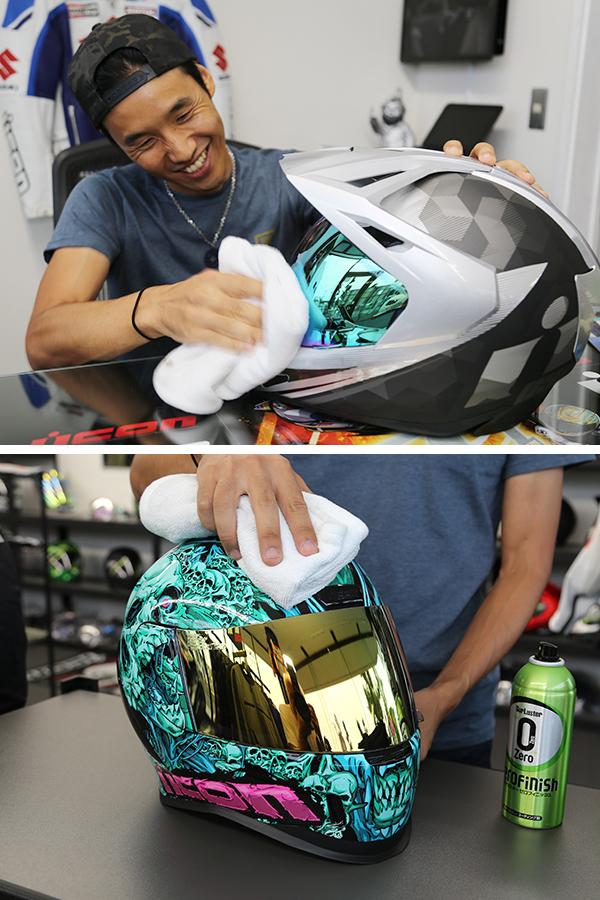 シュアラスター|surluster|ゼロフィニッシュ|アイコンヘルメット|icon|茨城県つくば市|コーティング|洗車|ヘルメット
