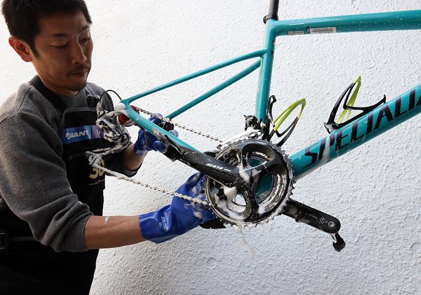 ロードバイクの洗車