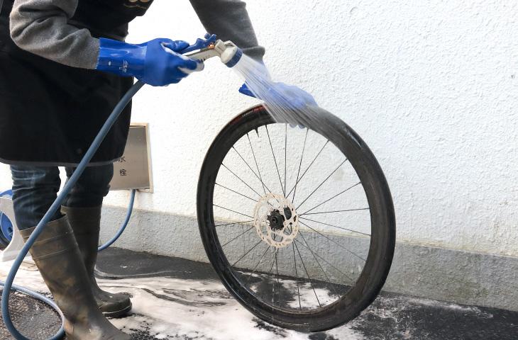 ロードバイクの洗車_仕上げ