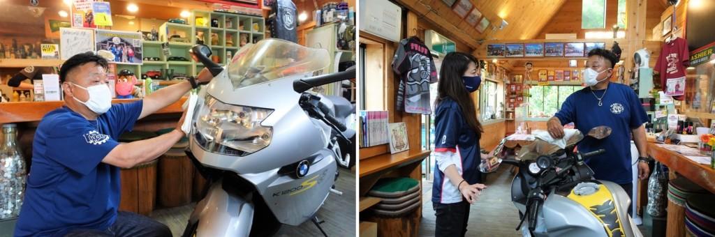 シュアラスター|ゼロフィニッシュ|千葉県夷隅郡大多喜町|ライダーズカフェ|クラブビッグワン|BMW|K1200s|洗車|コーティング